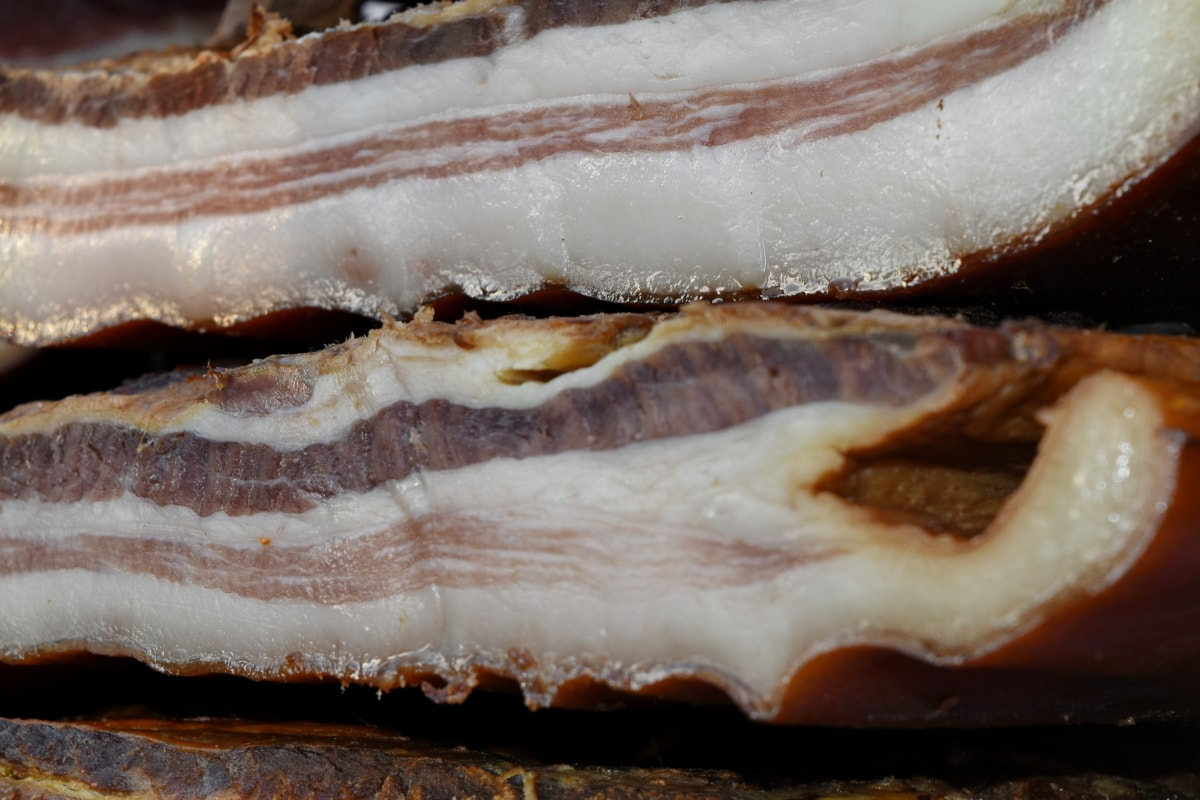 bacon, meat, delicious, pastry, food, snack, tasty, upclose