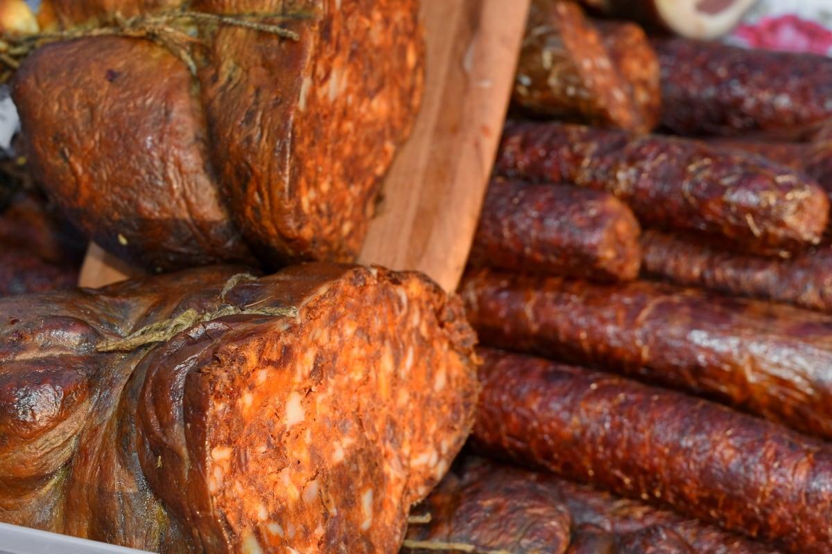 pork loin, sausage, meat, dinner, cooking, pork, food, delicious