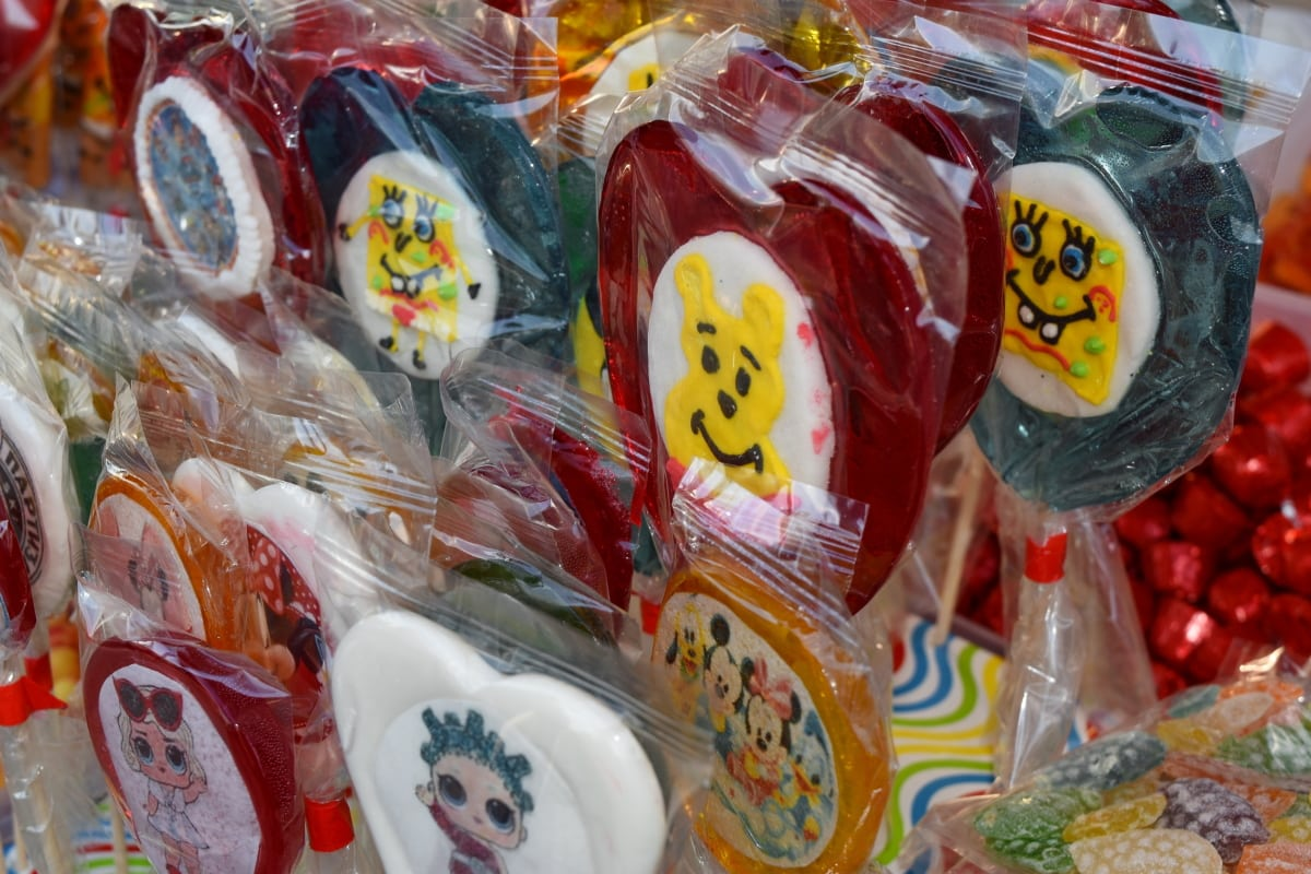 Bonbon, Konditorei, Farbe, Essen, Dekoration, traditionelle, Markt, hell