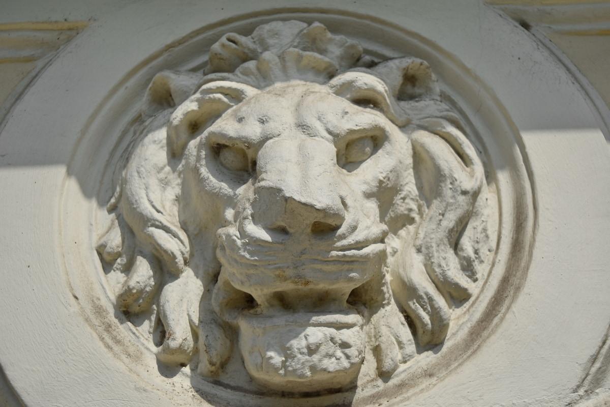 Лъв, стена, скулптура, архитектура, мрамор, изкуство, древен, статуя
