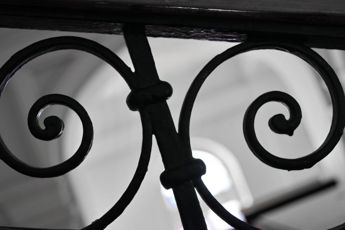 铸铁, 金属, 单色, 设计, 铁, 钢, 螺旋, 安全