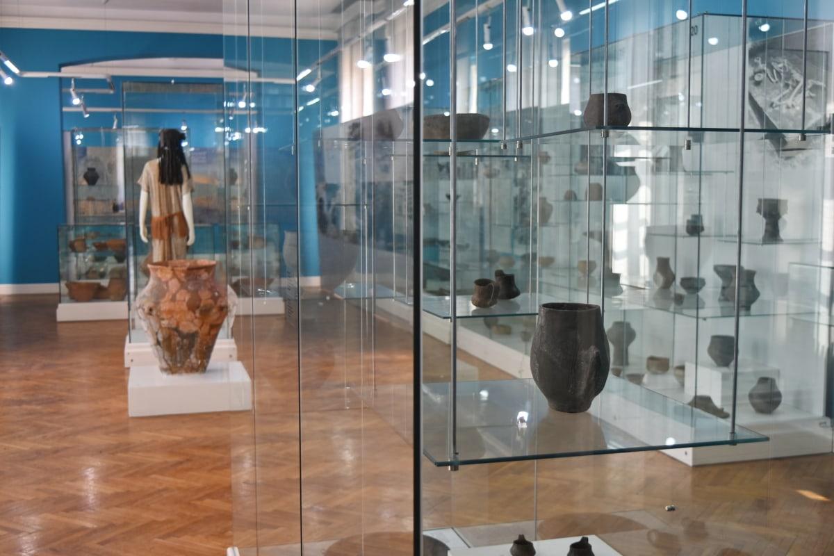 interior decoration, museum, object, indoors, interior, room, modern, window