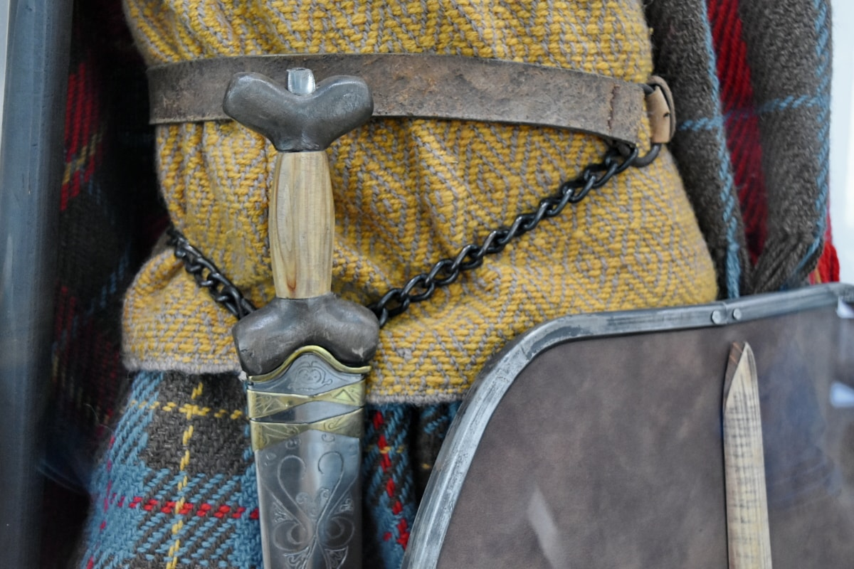 srednjovjekovni, Muzej, štit, mač, oklop, stari, modni, oružje