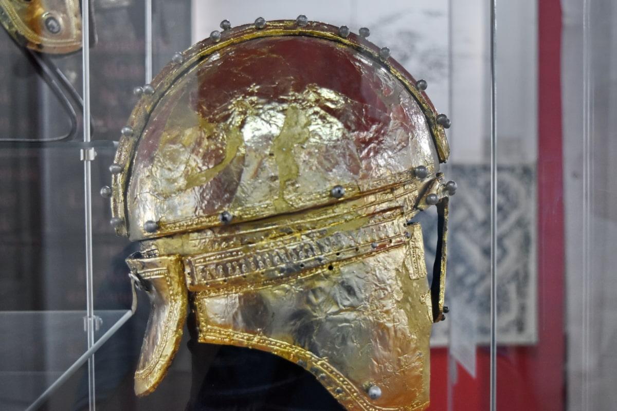 アート, 詳細, ヘルメット, 古い, ゴールド, 装飾, 古代, 文化