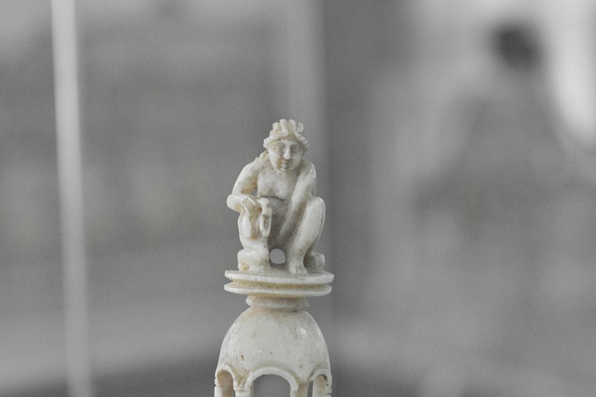 ivory, sculpture, statue, art, still life, architecture, wood, blur