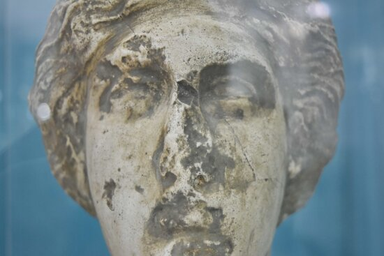 head, imperial, marble, medieval, sculpture, statue, art, nature