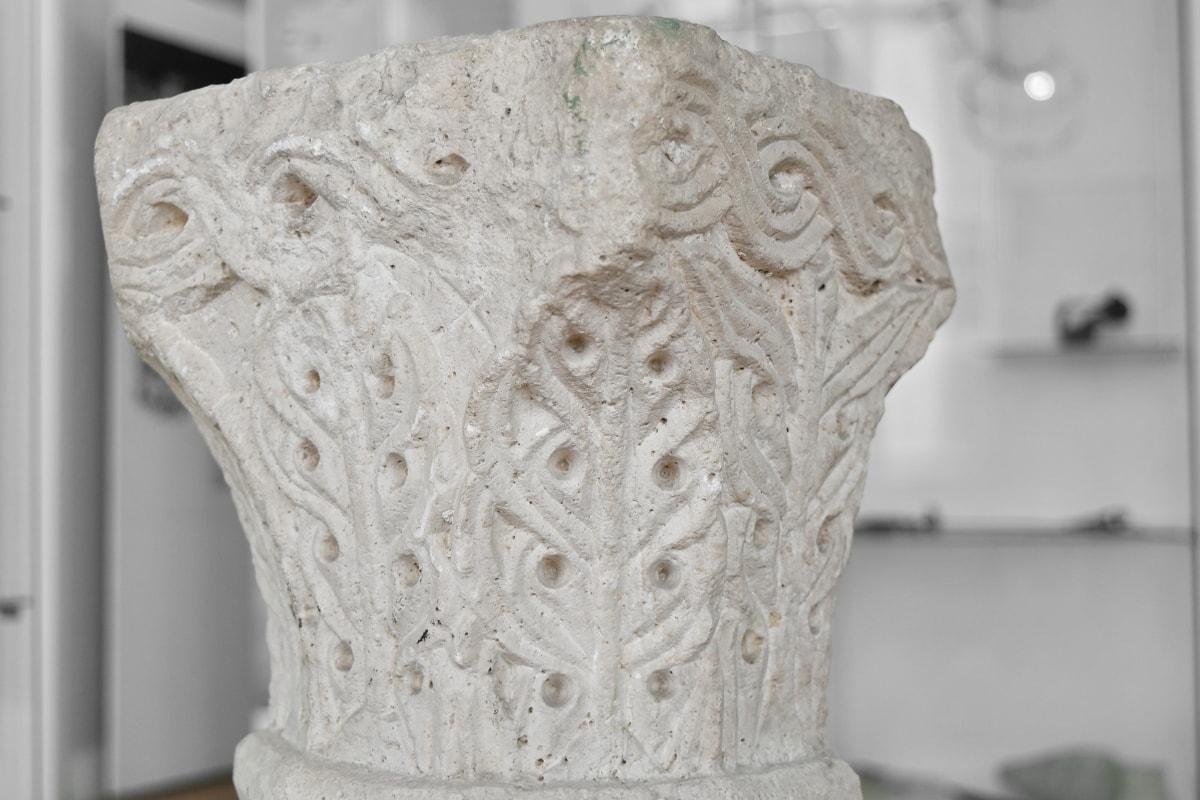 carvings, granite, marble, medieval, museum, white, decoration, design