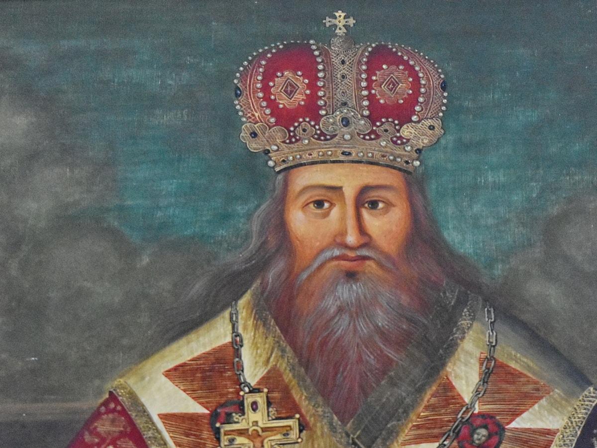 výtvarné umění, monarcha, ortodoxní, kněz, malba, Koruna, náboženství, pravítko
