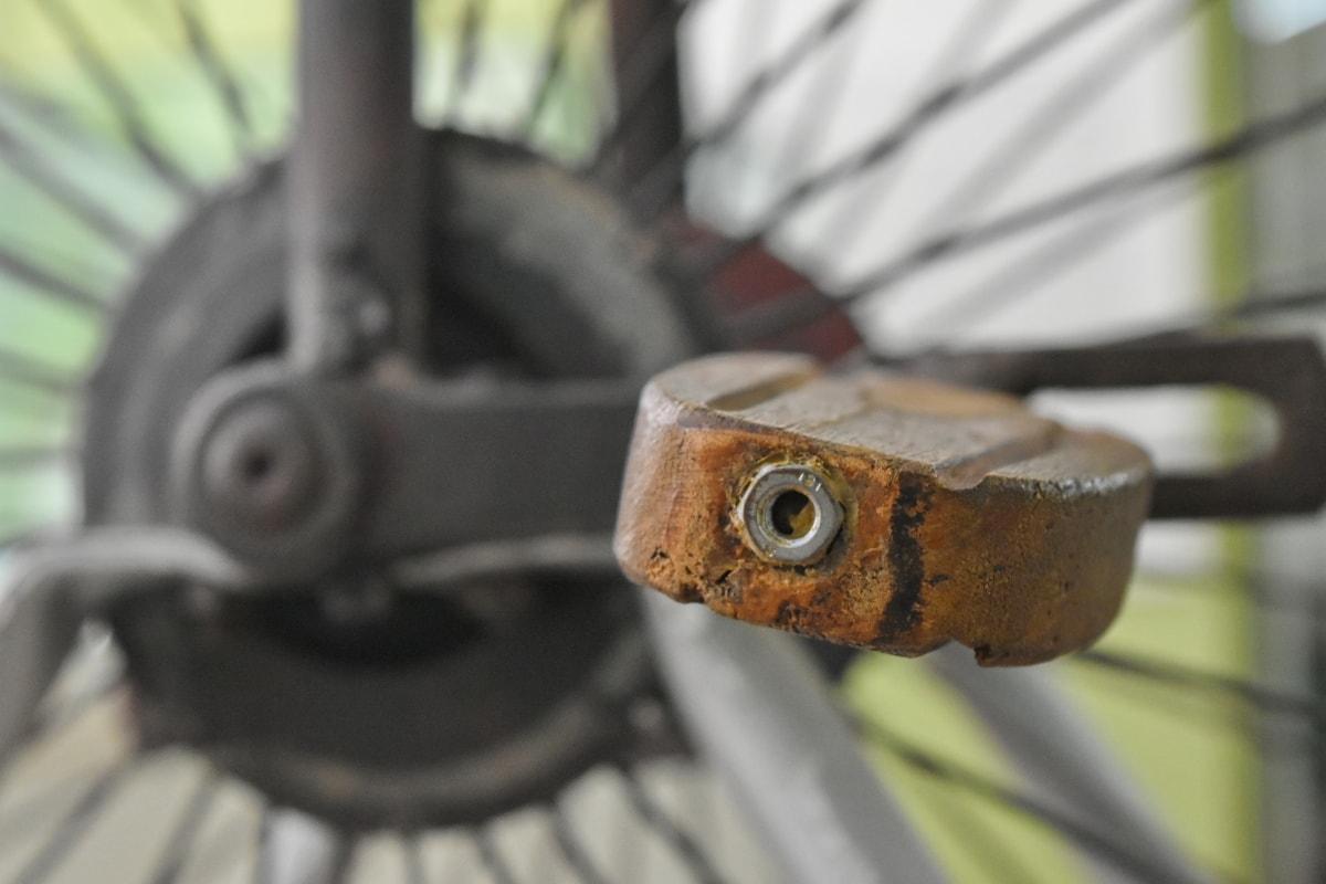 antiquité, vieux, dispositif de fixation, machine, unité, loquet, roue, en acier