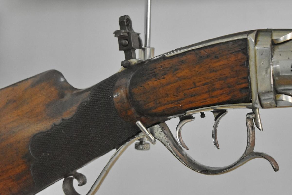 zaman kuno, museum, objek, senjata, Aksi, pistol, amunisi, keamanan