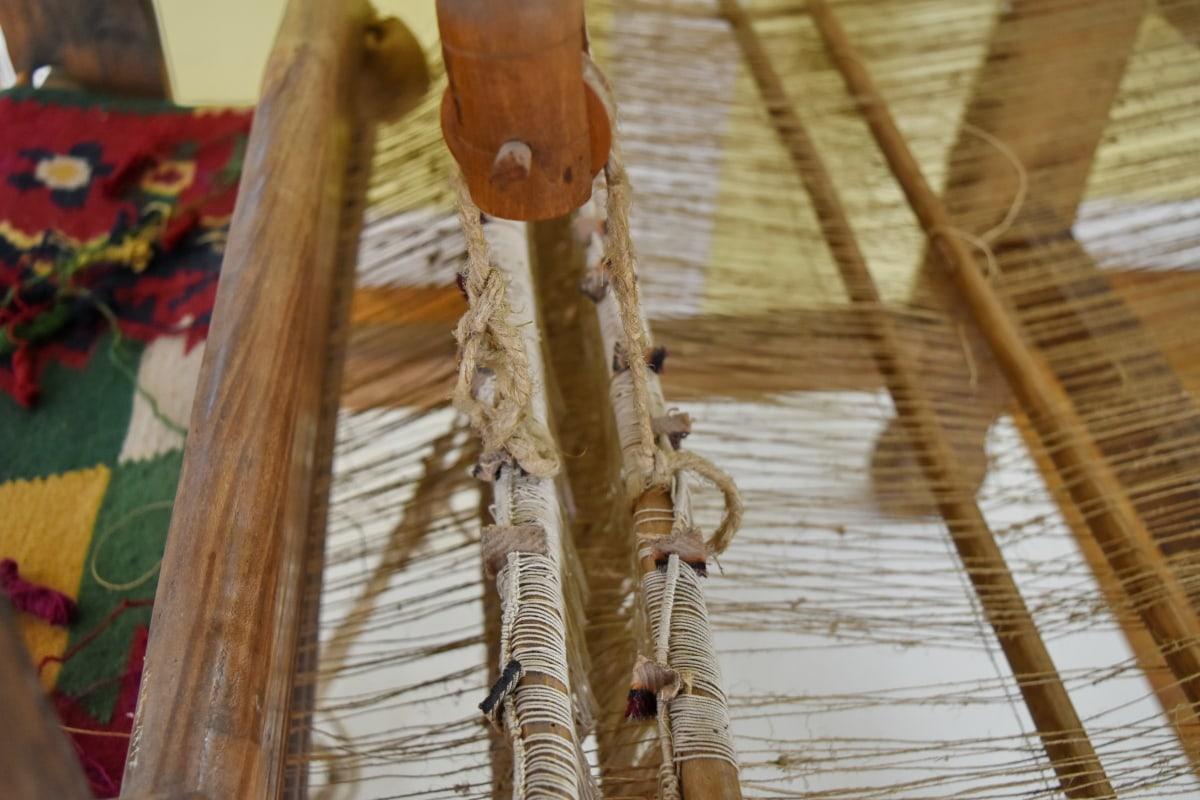 พิพิธภัณฑ์, เก่า, เชือก, ไม้, ไม้, แบบดั้งเดิม, วินเทจ, ทำด้วยมือ