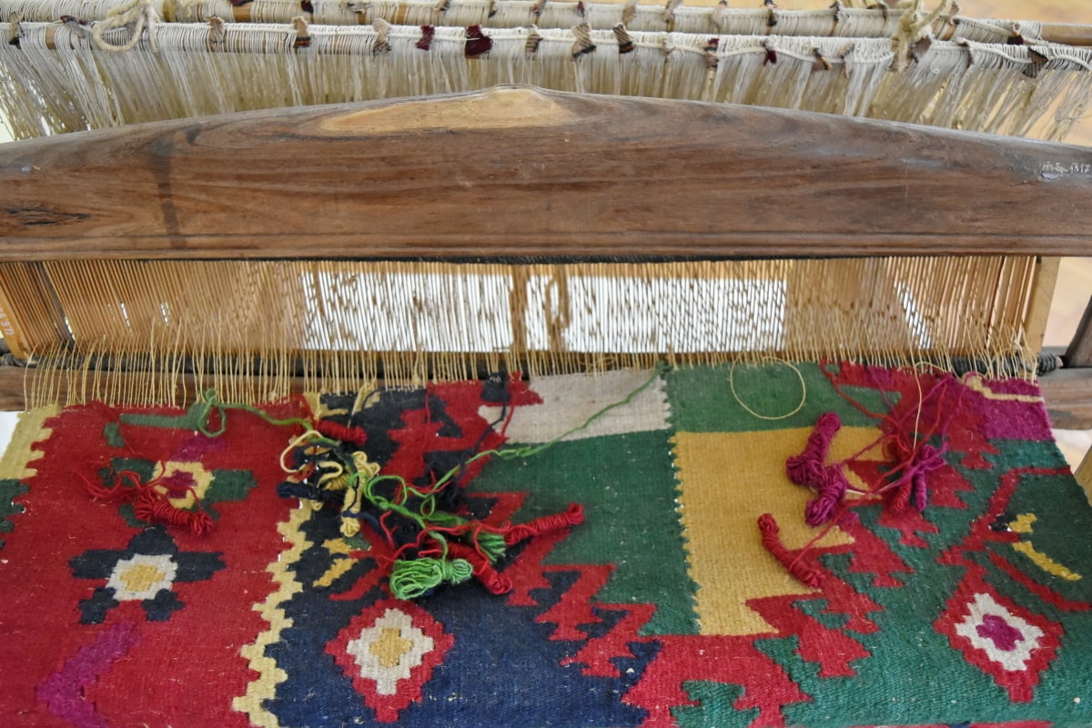 antikken, dørmåtte, håndlavede, museo, tæppe, håndværk, træ, træ