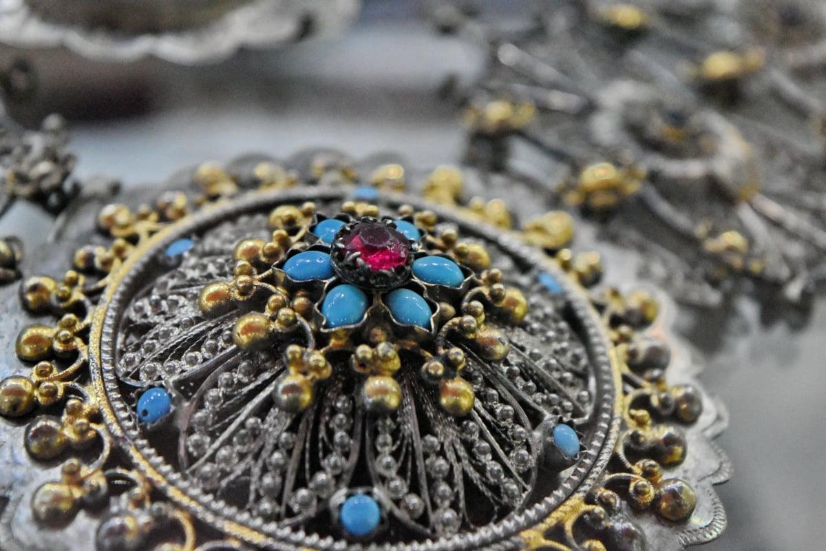 보석, 장식, 귀중 한, 골드, 액세서리, 럭셔리, 빛나는, 목걸이