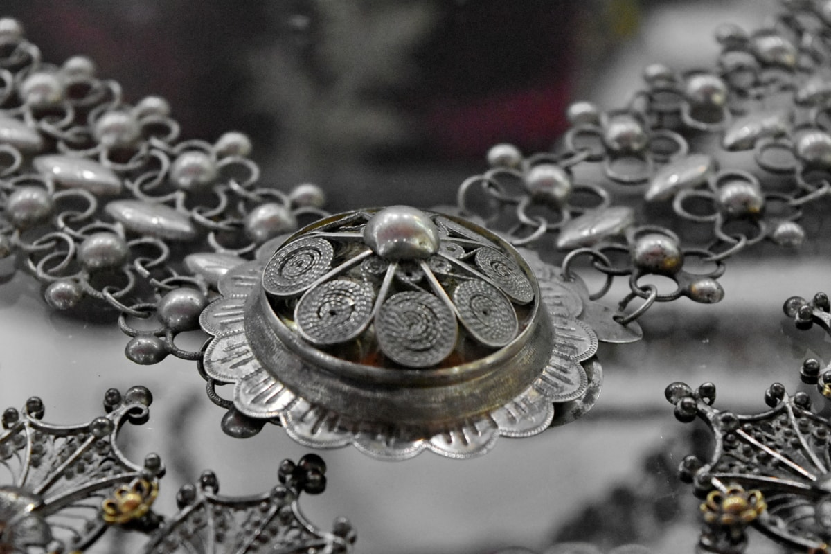 antiquity, necklace, silver, treasure, jewelry, shining, decoration, chain