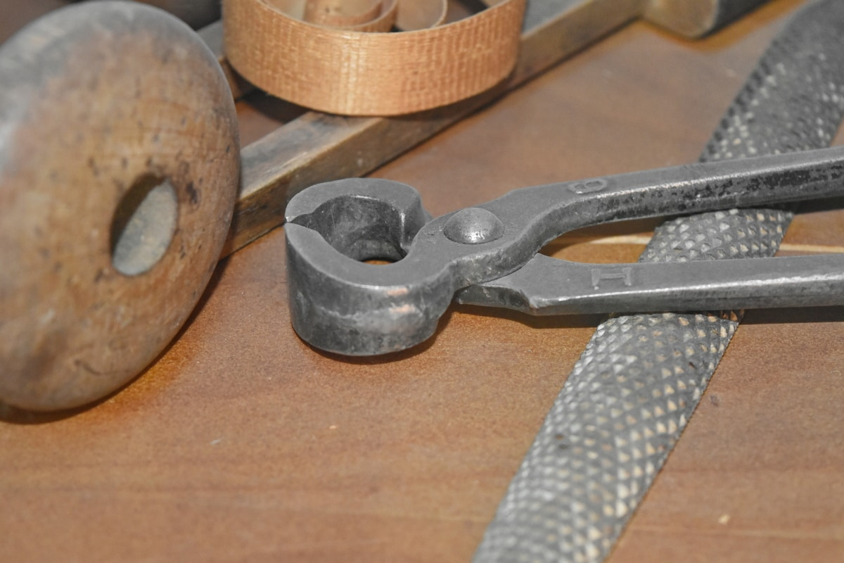 大工仕事, 手のひらツール, ツール, 金属, 鋼, 木材, 古い, 業界