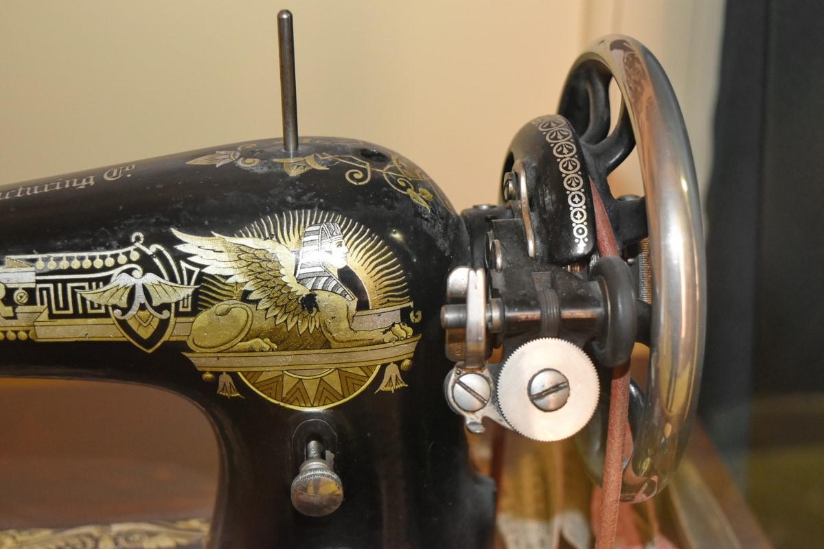 device, mechanism, sewing machine, antique, old, wheel, vehicle, vintage
