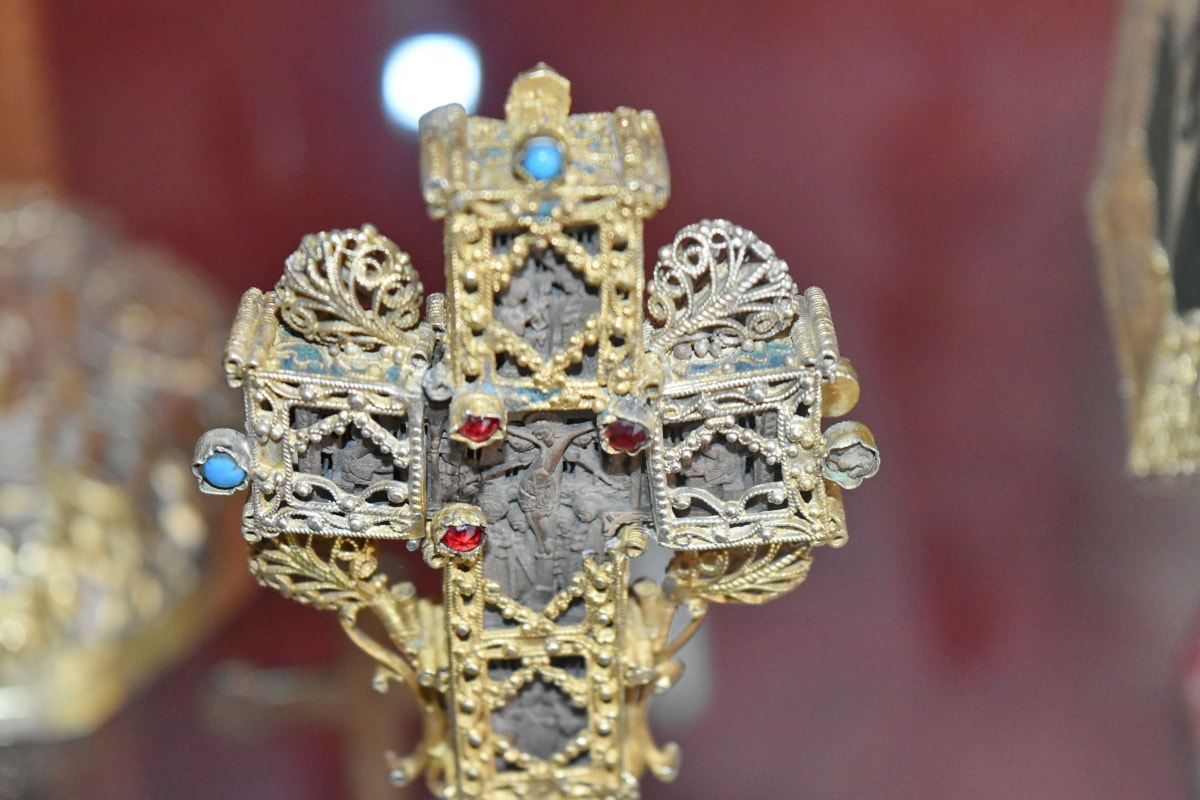 cross, gold, religion, luxury, decoration, jewelry, shining, gift