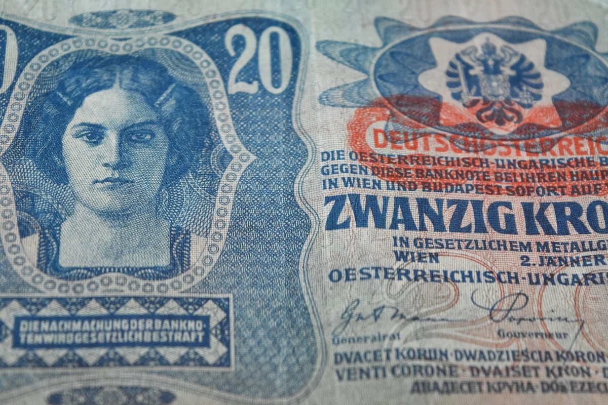 germany, old, cash, money, currency, cotton, banknote, bank
