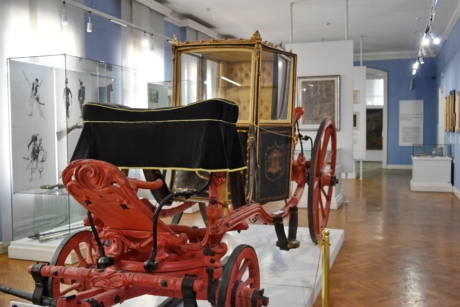 interior decoration, museum, carriage, vehicle, furniture, indoors, room, home