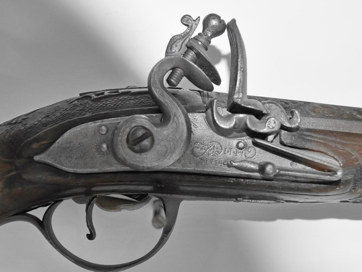 hierro fundido, historia, Museo, mecanismo de, acción, arma, dispositivo, pistola