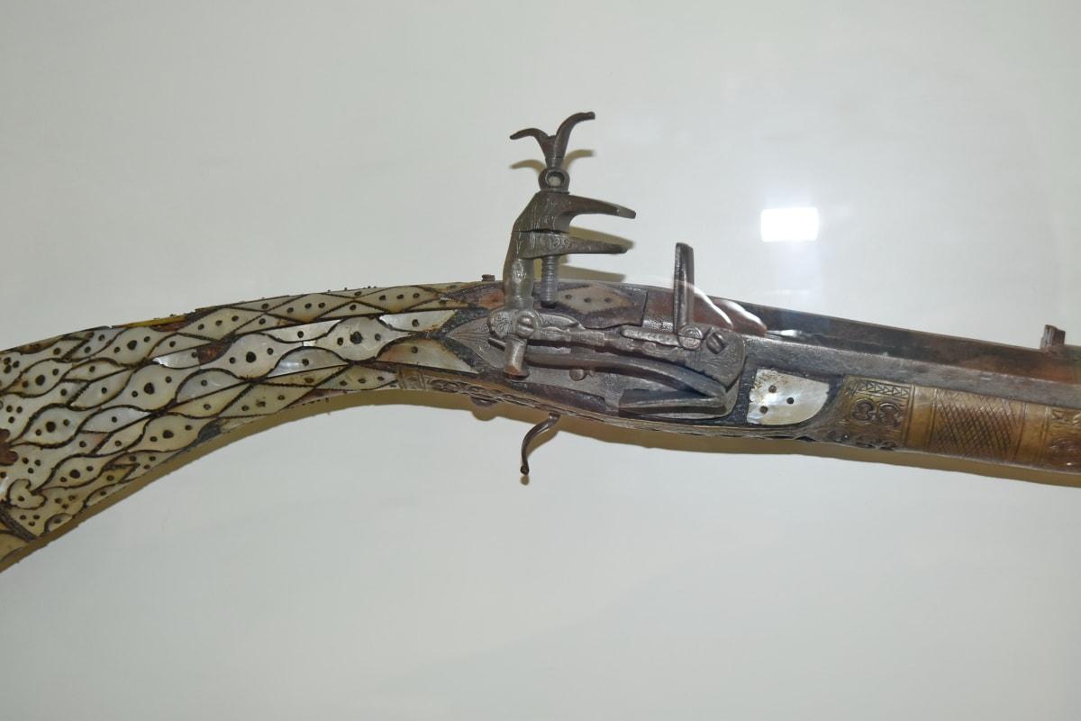 geschiedenis, museum, mechanisme, wapen, pistool, wijnoogst, kunst, daglicht