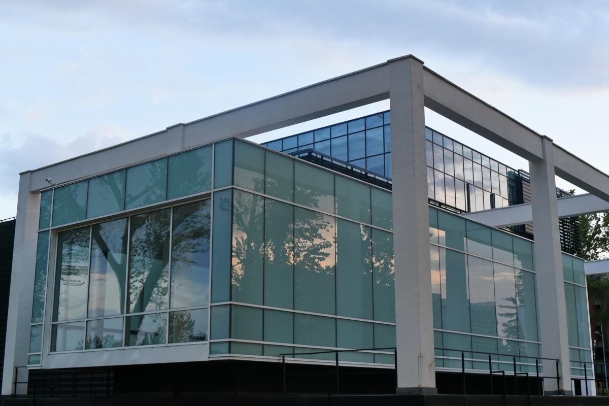 Cephe, fütüristik, modern, bakış açısı, kent içi, yapısı, sera, pencere