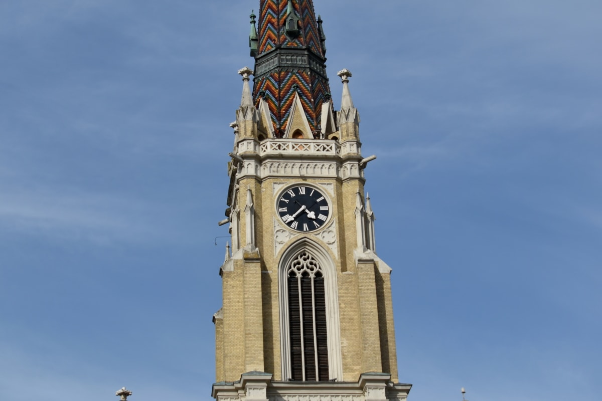 landmark, tower, building, church, clock, architecture, outdoors, religion, old, ancient