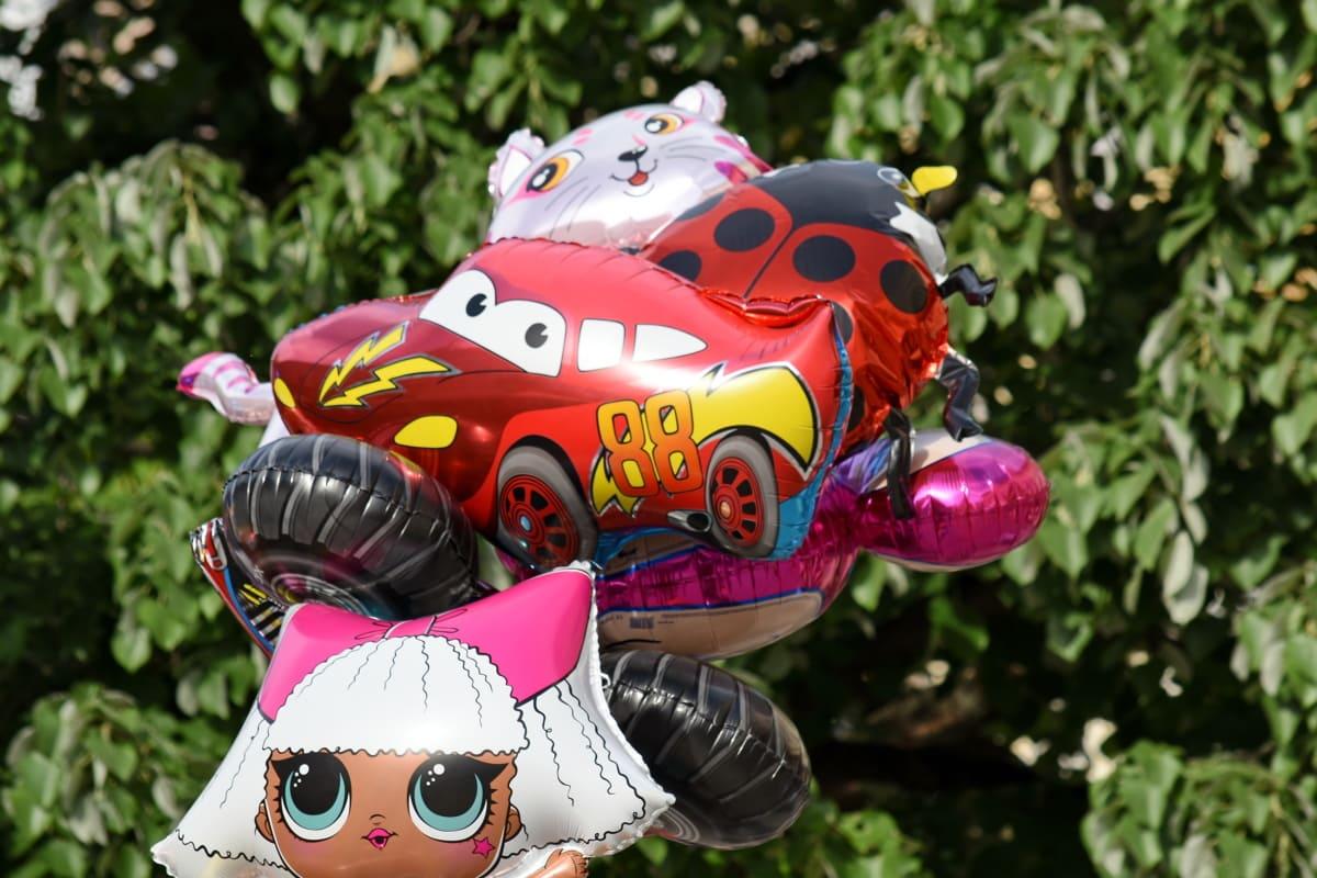 balon, šareni, helij, priroda, igračka, zabava, park, boja, slatka, na otvorenom