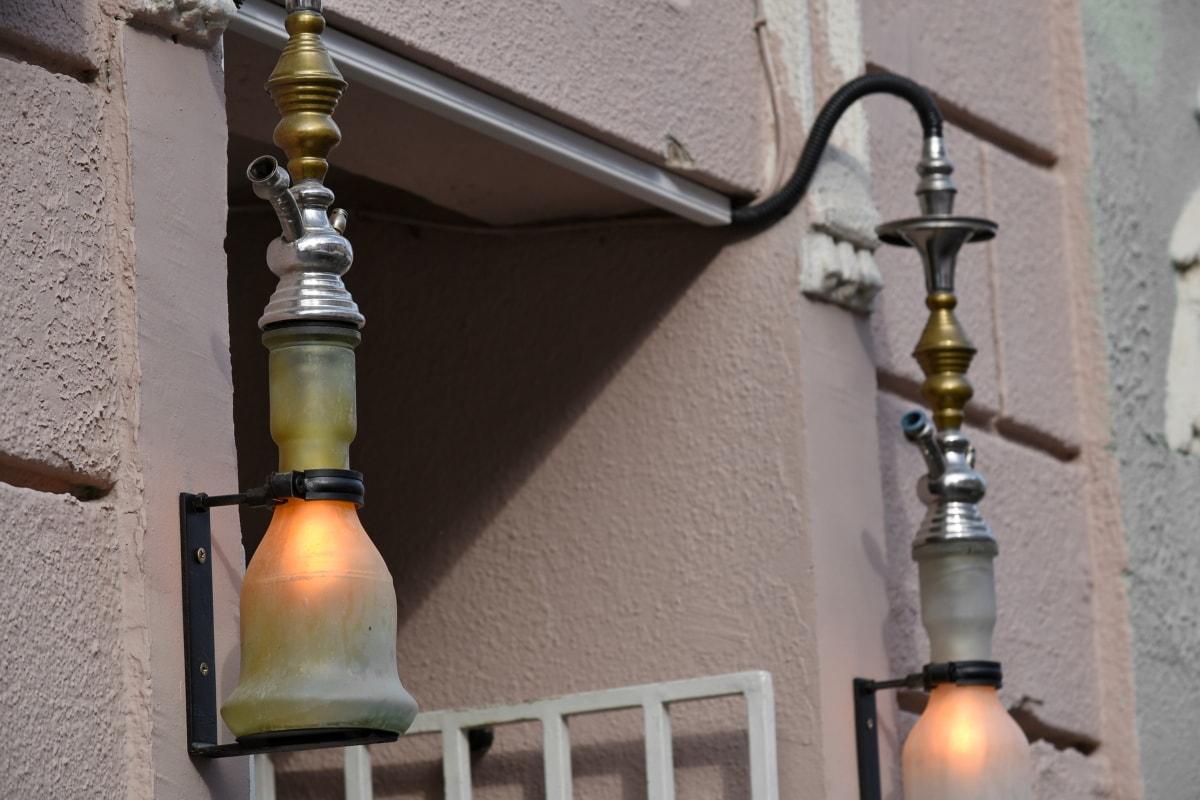 brass, decoration, illumination, oriental, shade, lamp, architecture, old, lantern, building