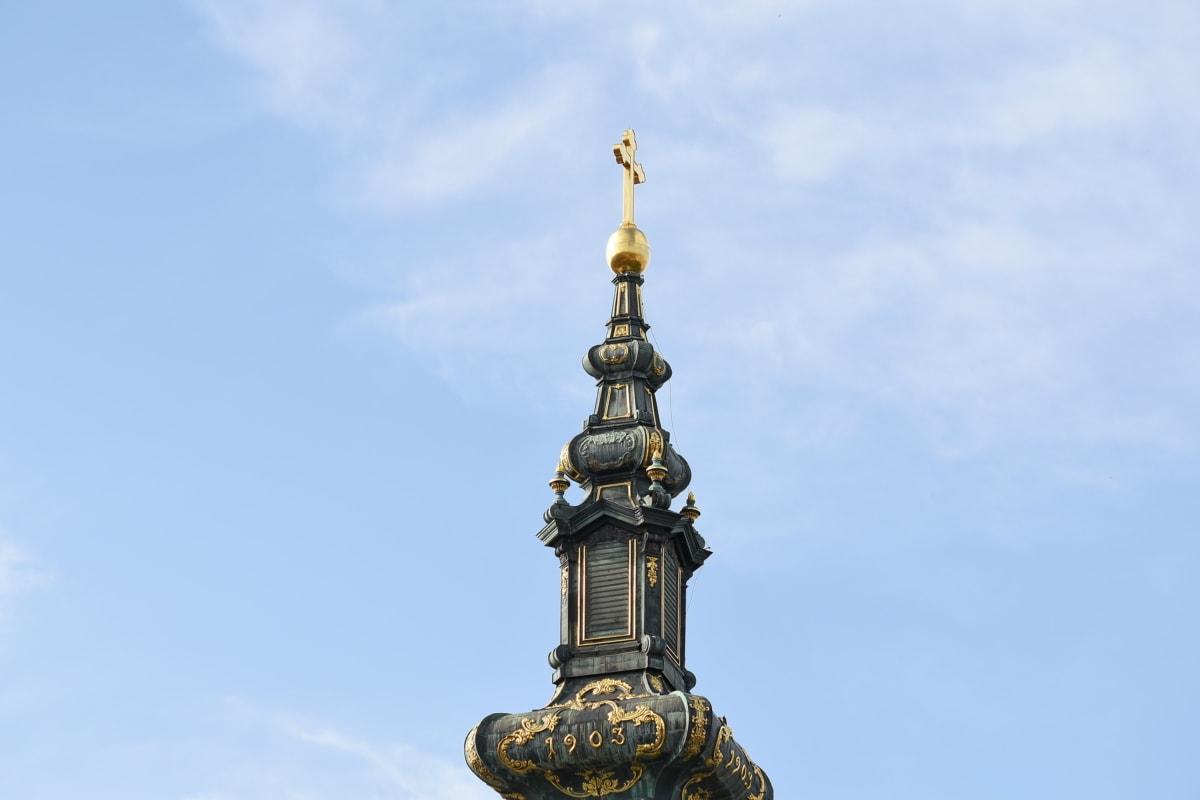 barok, wieża kościoła, złota, dziedzictwo, prawosławny, religijne, Kościół, architektura, religia, urządzenia