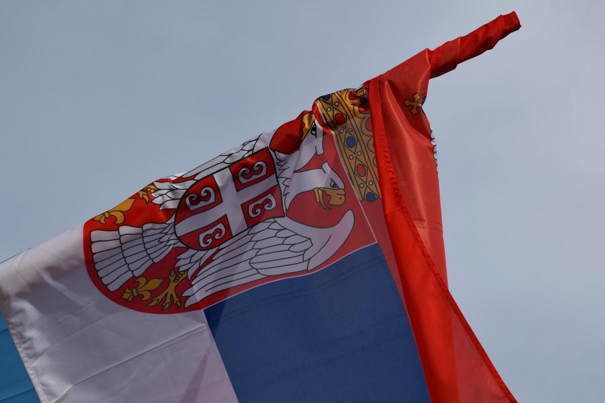 heraldyka, Serbia, Flaga, wiatr, godło, patriotyzm, Administracja, duma, kraj, demokracji