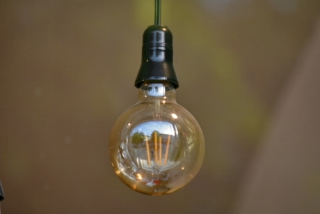 glass, light bulb, lamp, bulb, blur, light, reflection, still life, indoors, illuminated