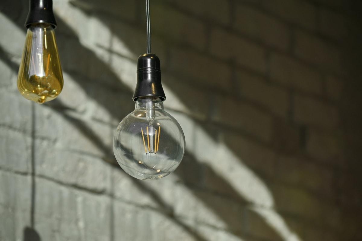 dekorace, žárovka, staré, průhledná, sklo, architektura, světlo, ulice, tmavý, ročník