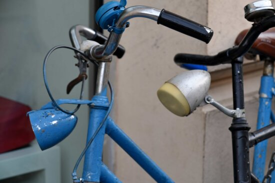 bicycle, decoration, old, outdoor, street, safety, industry, bike, equipment, outdoors