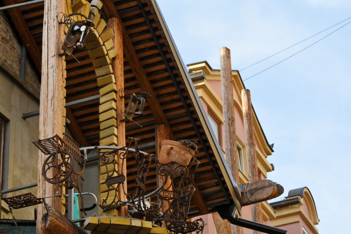 balcony, fence, handmade, architecture, building, old, house, wood, traditional, construction