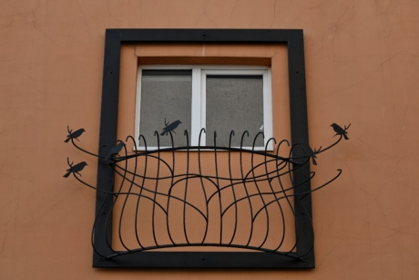 cast iron, decoration, fence, balcony, house, window, wood, family, vintage, wall
