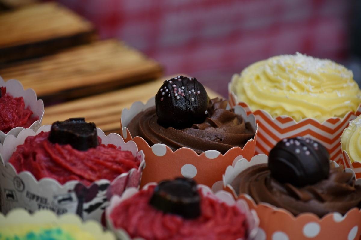 kage, Sød, lækker, chokolade, dessert, sukker, fløde, mad, bagning, slik