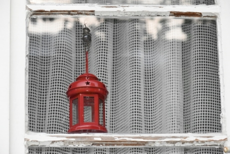 decoration, glass, lamp, red, transparent, device, design, old, architecture, container