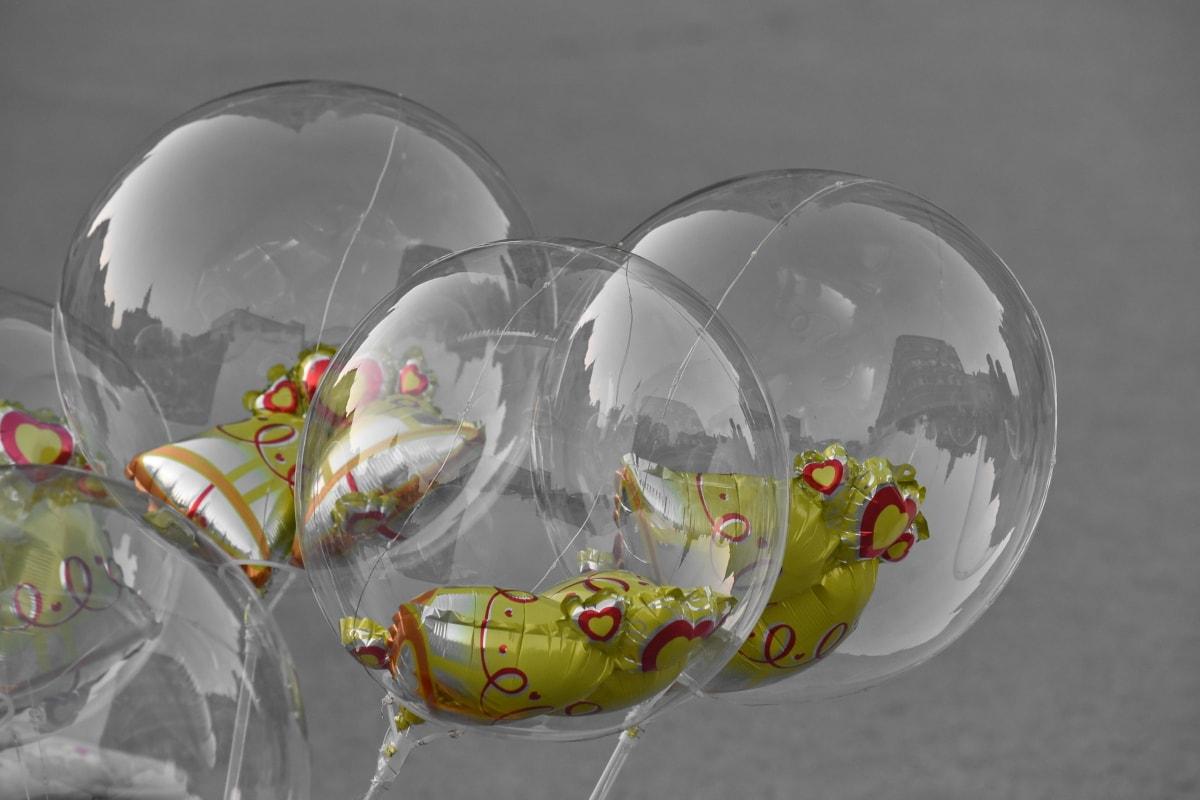 balón, regalo, plástico, transparente, esfera, Color, naturaleza, símbolo, decoración, medio ambiente