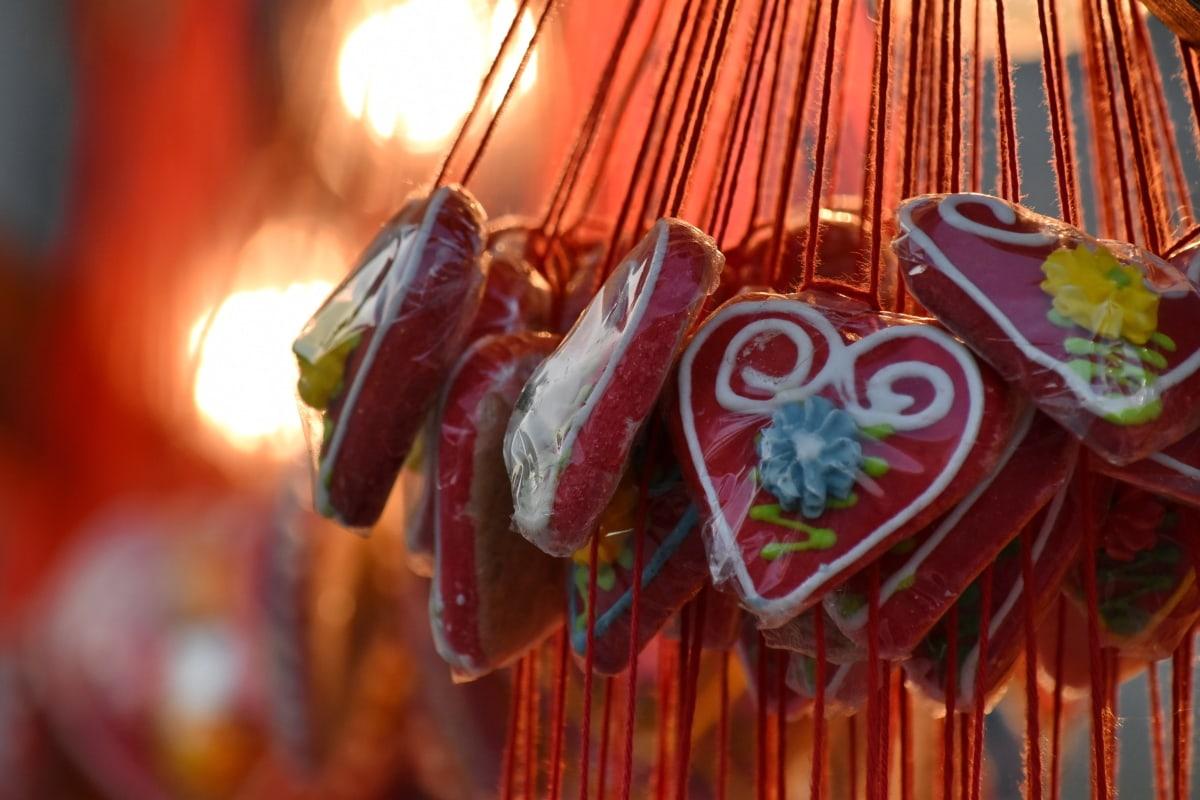 Bonbon, Konditorei, Herz, Liebe, Feier, traditionelle, Dekoration, Festival, hell, Holz
