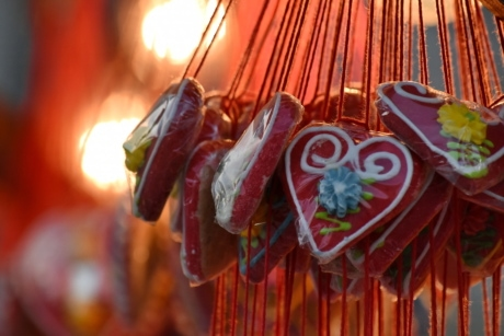 candy, confectionery, heart, love, celebration, traditional, decoration, festival, bright, wood