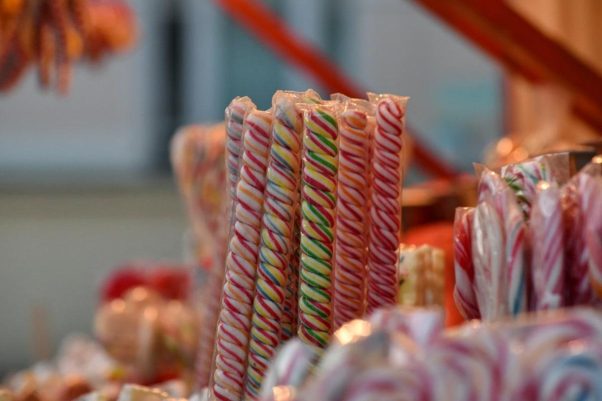 цукерки, кондитерські вироби, палиці, Солодкий, їжа, традиційні, в приміщенні, Шопінг, ринок, продаж