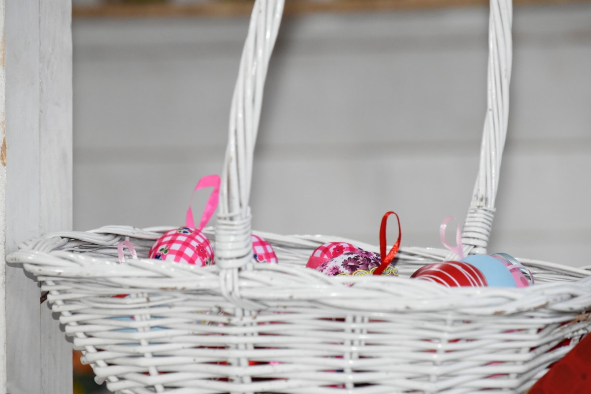 egg, holiday, wicker basket, basket, wicker, summer, health, food, indoors, traditional