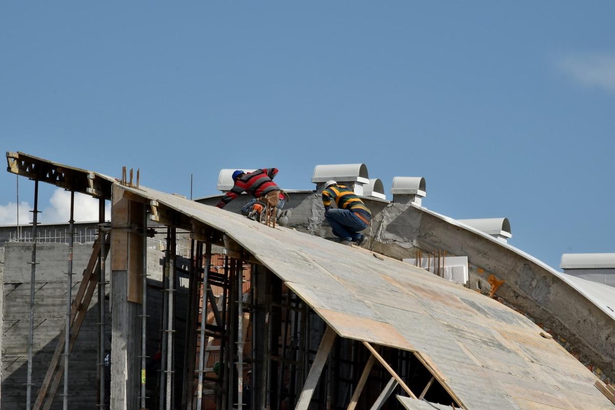 trabajador de la construcción, trabajadores, trabajo, obrero, arquitectura, al aire libre, construcción, industria, acero, luz del día