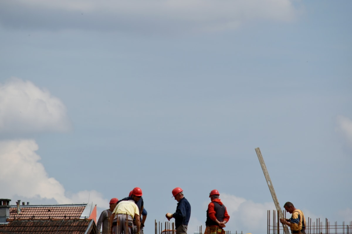 construction worker, industrial, outdoors, people, man, daylight, landscape, outdoor, person, mountains