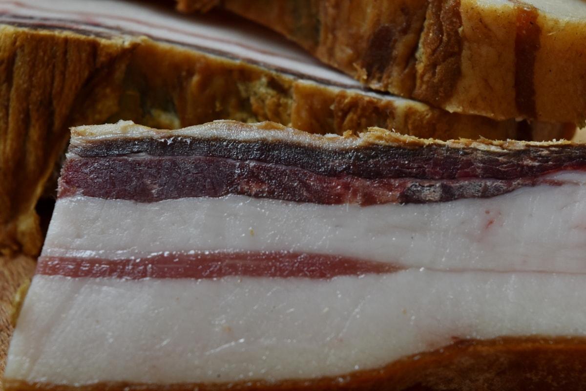 베이컨, 돼지고기, 맛 있는, 맛 있는, 음식, 고기, 슬라이스, 햄, 아침 식사, 식사