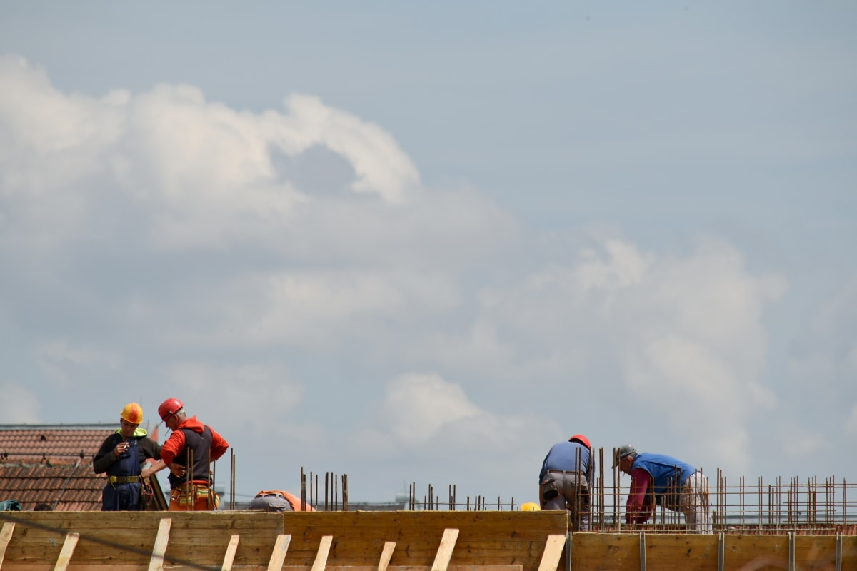 construction, construction worker, working, workplace, outdoors, landscape, people, man, daylight, wood