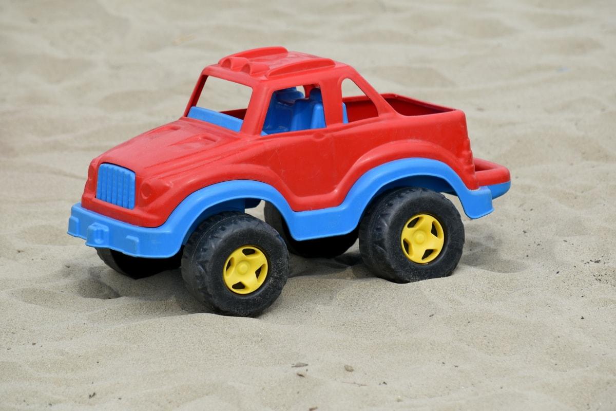 plage, Jeep, plastique, sable, l'été, jouet, transport, roue, automobile, voiture