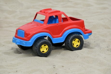 beach, jeep, plastic, sand, summer season, toy, transport, wheel, automobile, car