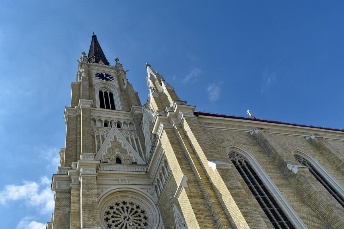 arhitektura, crkva, toranj, religija, katedrala, zgrada, grad, stari, vjerske, gotika